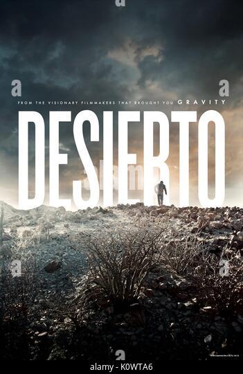 Filmplakat DESIERTO (2015) Stockbild