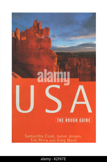 Der Reiseführer, USA, der Rough Guide. Stockbild
