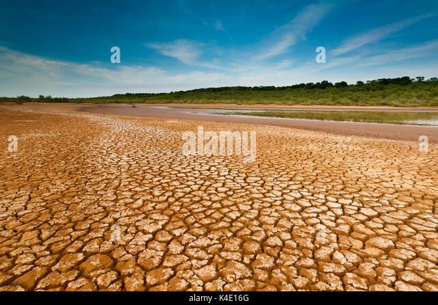 Wüstenlandschaft in Sarigua Nationalpark, Herrera Provinz, Republik Panama. Stockbild