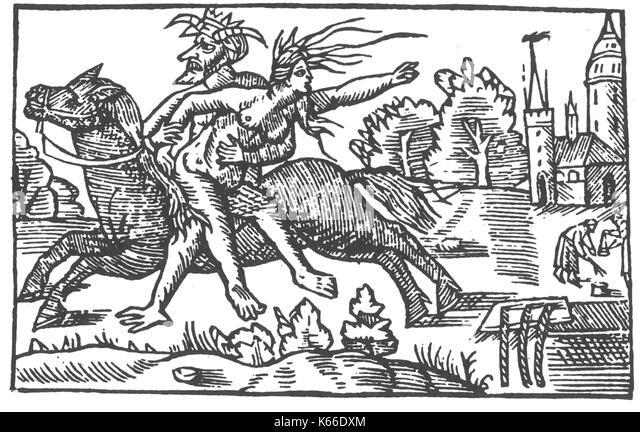 OLAUS MAGNUS (1490-1557), schwedischer katholischer Schriftsteller. Holzschnitt aus seinem 1555 Buch Historia de Stockbild