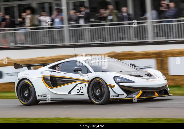 2017 McLaren 570 s GT4 Endurance racer am 2017 Goodwwod Festival der Geschwindigkeit, Sussex, UK. Stockbild