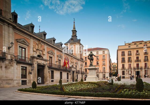 Spanien, Madrid, Centro, Plaza De La Villa, Stadt Halle Stockbild