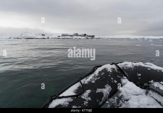 Wernadsky Forschungsbasis, Ukrainische Antarktis Station an der Marina Punkt auf galindez Insel in der Argentinischen Stockbild