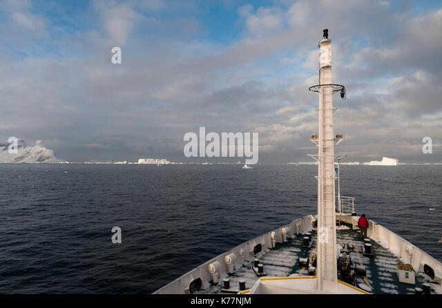 Plancius Kreuzfahrtschiff der Lemaire Kanal, Antarktis Stockbild