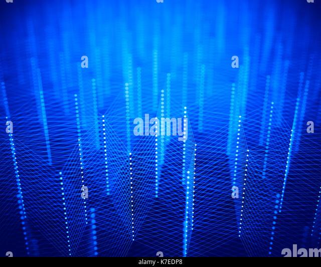Blau Verbindungen, abstrakte Darstellung. Stockbild