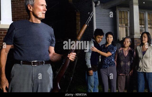 GRAN TORINO 2008 Warner Bros Film mit Clint Eastwood Stockbild