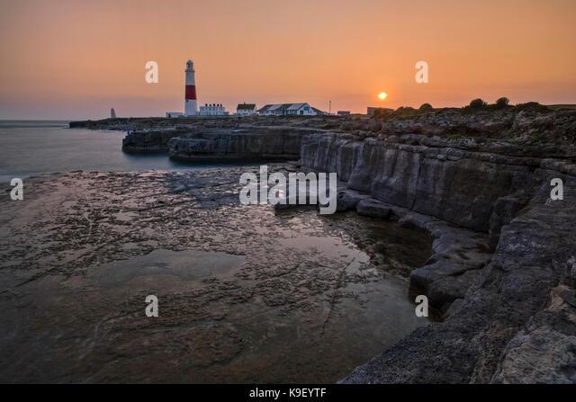 Portland Bill Leuchtturm; Isle of Portland; Dorset; England; UK Stockbild