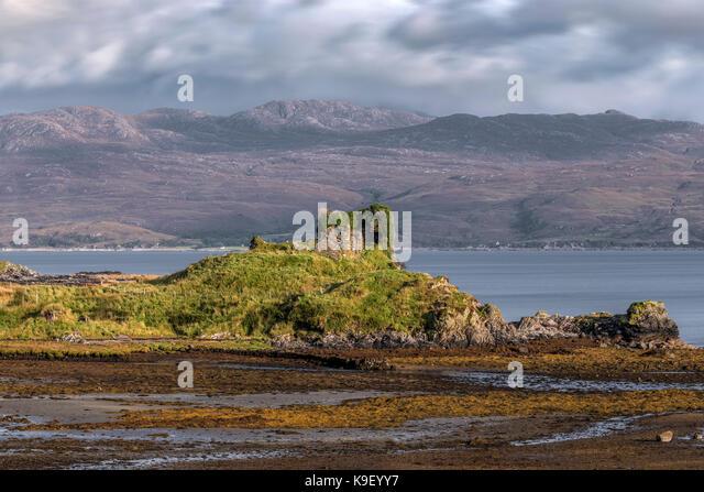 Knock Schloss, Isle of Skye, Schottland, Vereinigtes Königreich Stockbild