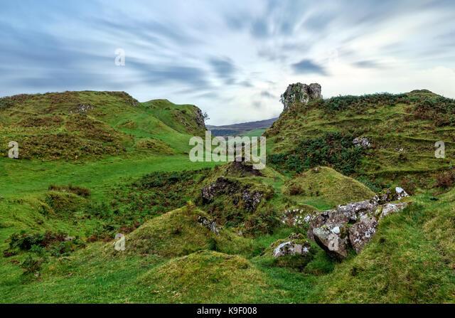 Fairy Glen, Isle of Skye, Schottland, Vereinigtes Königreich Stockbild