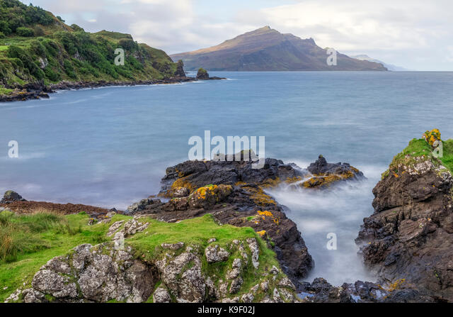 Isle of Skye, Ben Tianavaig, Schottland, Vereinigtes Königreich Stockbild