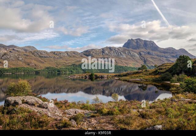 Loch Marree, Wester Ross, Northwest Highlands, Schottland, Vereinigtes Königreich Stockbild