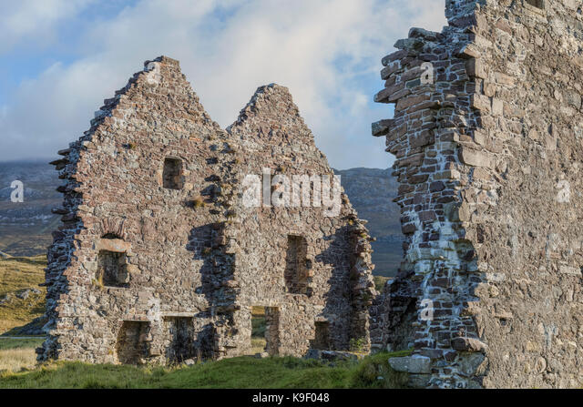 Calda Haus, Loch Assynt, Sutherland, Schottland, Vereinigtes Königreich Stockbild