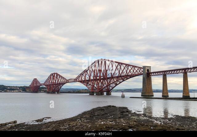 Forth Bridge, Edinburgh, Schottland, Vereinigtes Königreich Stockbild