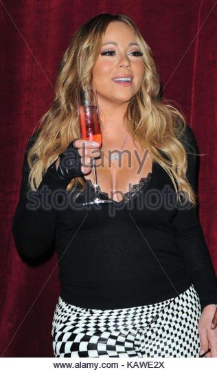 Mariah Carey. Mariah Carey Launchesf Ihres N yde Flasche Schmetterling in NYC. Stockbild
