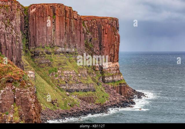 Kilt Rock Isle of Skye, Schottland, Vereinigtes Königreich Stockbild