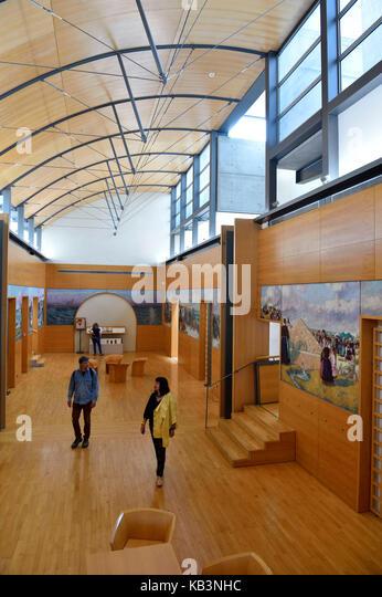 Frankreich, finistere, Quimper, Museum der schönen Künste, die Dekoration von Jean-Julien lemordant für Stockbild