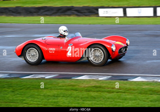 1955 Maserati A6GCS im Besitz und in der Freddie März Memorial Trophy in Goodwood Revival 2017 von Manuel elicabe Stockbild