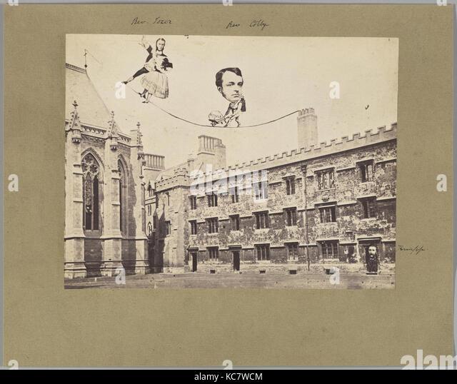 Montage der kirchlichen Zahlen in politische Satire, unbekannt, 1860 s Stockbild