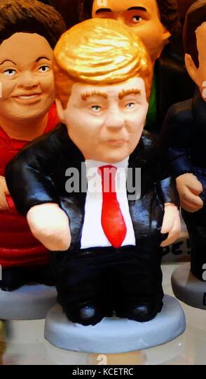 Keramik Figur des Donald Trump (* 14. Juni 1946), ein US-amerikanischer Geschäftsmann und Politiker. Präsident Stockbild