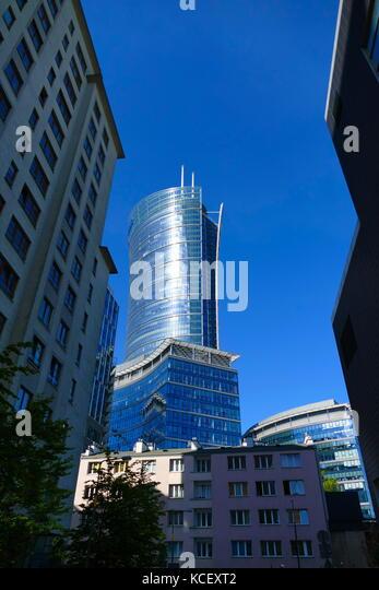 Moderne Wolkenkratzer in Warschau, Polen, Übergang des Landes in einem freien Markt, post-kommunistischen ökonomischen Stockbild