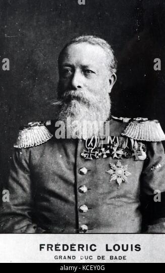 Foto von Friedrich 1., Großherzog von Baden (1826-1907) ein deutscher Fürst und großherzogs. Vom Stockbild