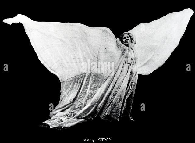 Foto von loie Fuller (1862-1928), amerikanische Tänzerin. Vom 20. Stockbild