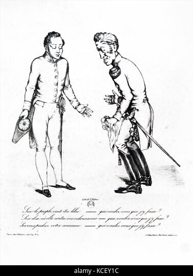Abbildung: Darstellung von Jules, 1. Herzog von Polignac (1746-1817), einem französischen Edelmann, und König Stockbild