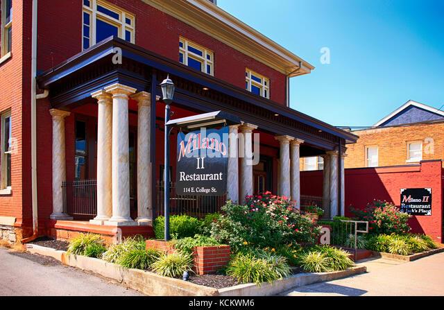 Die Milano ii Fine Dining Restaurant auf e. college st in Murfreesboro TN, USA Stockbild