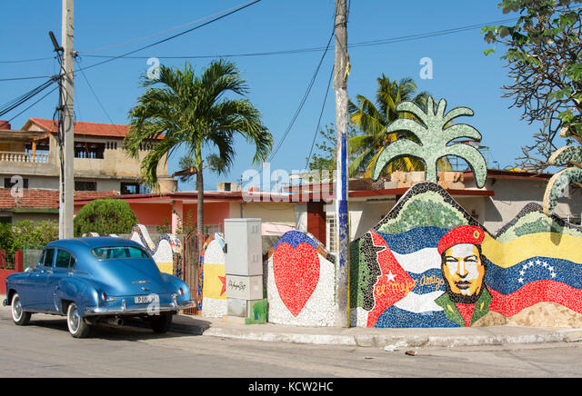 Fusterlandia, jaimanitas, Havanna, Kuba. eine Kreation von Jose Fuster, ein kubanischer Künstler, Maler und Stockbild