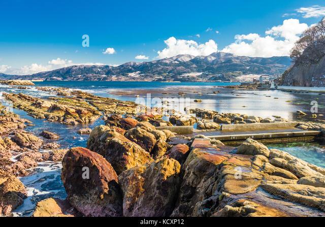 Wajima, Ishikawa, Japan ländliche Coastal Park. Stockbild