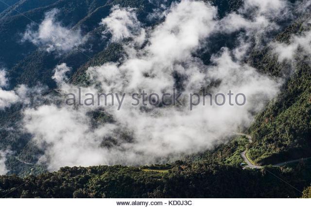 Pass, der bis nach Aguas Calientes führt - der Ausgangspunkt für Ausflüge nach Machu Picchu, Peru Stockbild