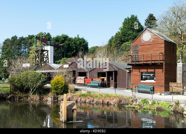 Poldark Zinnmine eine historische Sehenswürdigkeit in der Nähe von helston in Cornwall, England, Großbritannien, Stockbild