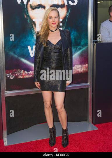 New York, NY - 28. September 2015: Lena Hall besucht Roger Waters the wall New York Premiere auf Ziegfeld Theater Stockbild