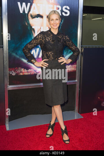 New York, NY - 28. September 2015: Kelly Rutherford besucht Roger Waters the wall New York Premiere auf Ziegfeld Stockbild