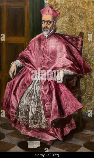 Kardinal Fernando Niño de Guevara, El Greco, um 1600, Metropolitan Museum der Kunst, Manhattan, New York City, Stockbild