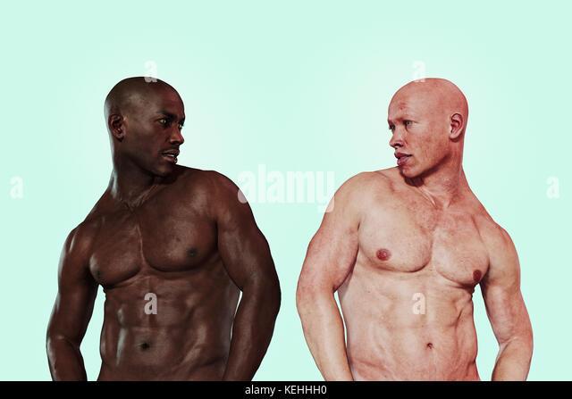 Ähnlich wie Männer mit verschiedenen Hautfarben Stockbild