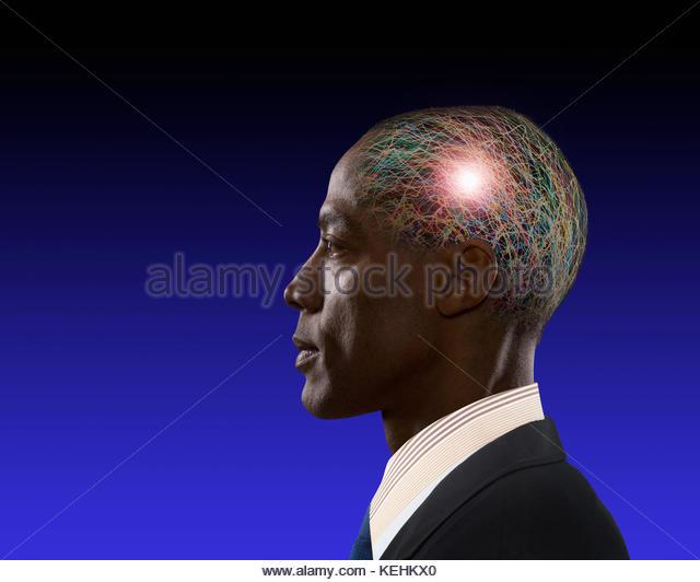 Afrikanische amerikanische Geschäftsmann Brainstorming Stockbild