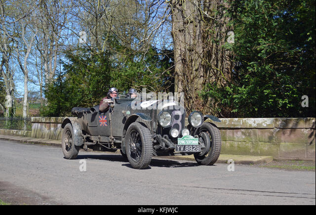 Flying Scotsman 2016-1928 Bentley 4,5 Liter ausführen Stockbild
