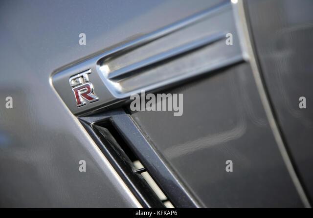 Nissan GT-R Sportwagen. Stockbild