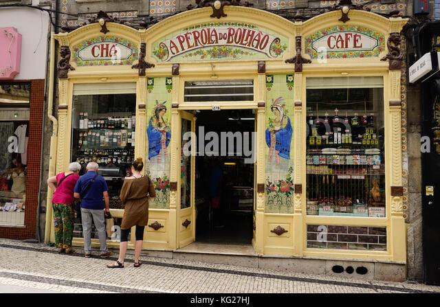 Sehr Shop eingerichtet, Porto (Porto), Portugal, Europa Stockbild