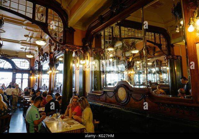 Majestic Café, Porto (Porto), Portugal, Europa Stockbild
