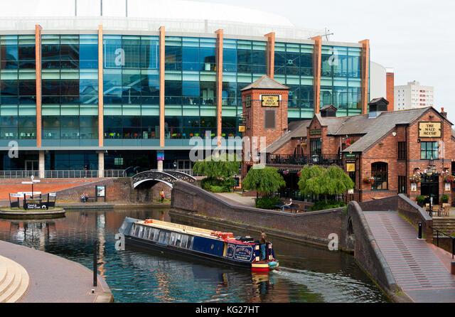Kanalsystem, Birmingham, West Midlands, England, Großbritannien, Europa Stockbild