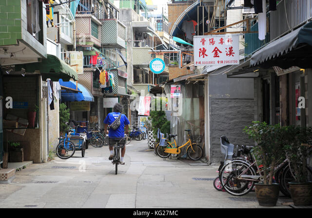 Cheung Chau Island, Dorf, Hongkong, China, Asien Stockbild