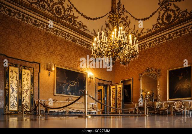 Innenraum der Palazzo Reale di Napoli, Neapel, Kampanien, Italien, Europa Stockbild
