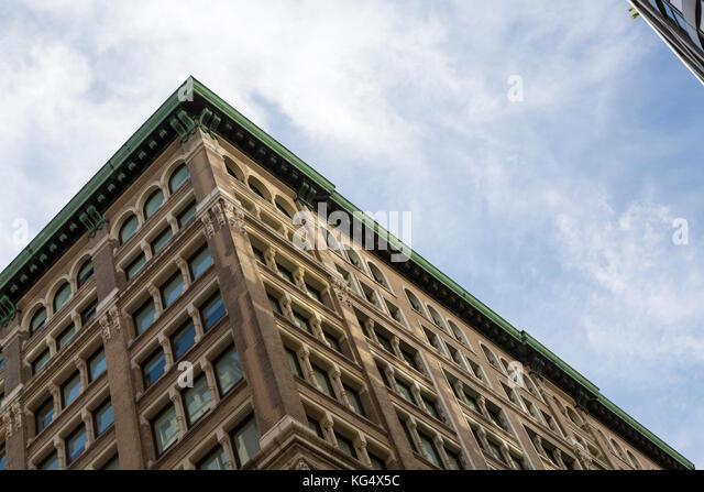 Detail der Gebäude in New York City. Stockbild