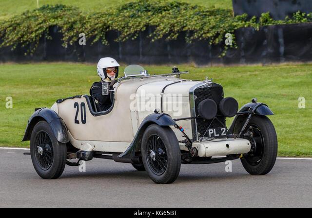 "1930 Talbot av 90 ""brooklands' mit Lucas während des brooklands Trophy Rennen auf dem Goodwood Revival Stockbild"