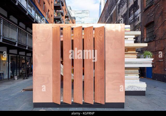 Frontansicht. Der Stack - mini Living urban Kabine, London, Großbritannien Architekt: sam Jacob Studio, 2017. Stockbild