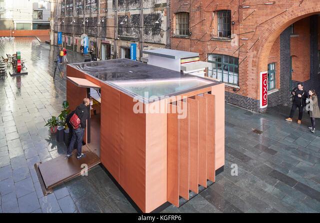 Temporärer Pavillon im Kontext. Der Stack - mini Living urban Kabine, London, Großbritannien Architekt: Stockbild