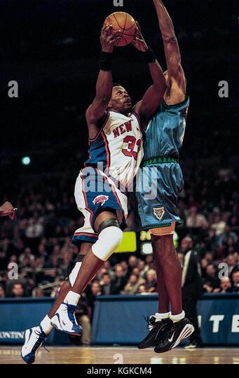 Patrick Ewing konkurrieren für die nba New York Knicks Stockbild