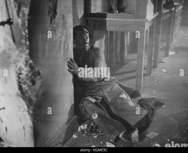 Der Mann im weissen Anzug (1951) Stockbild